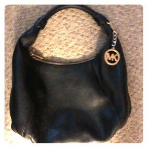 Black Michael Kors purse leather